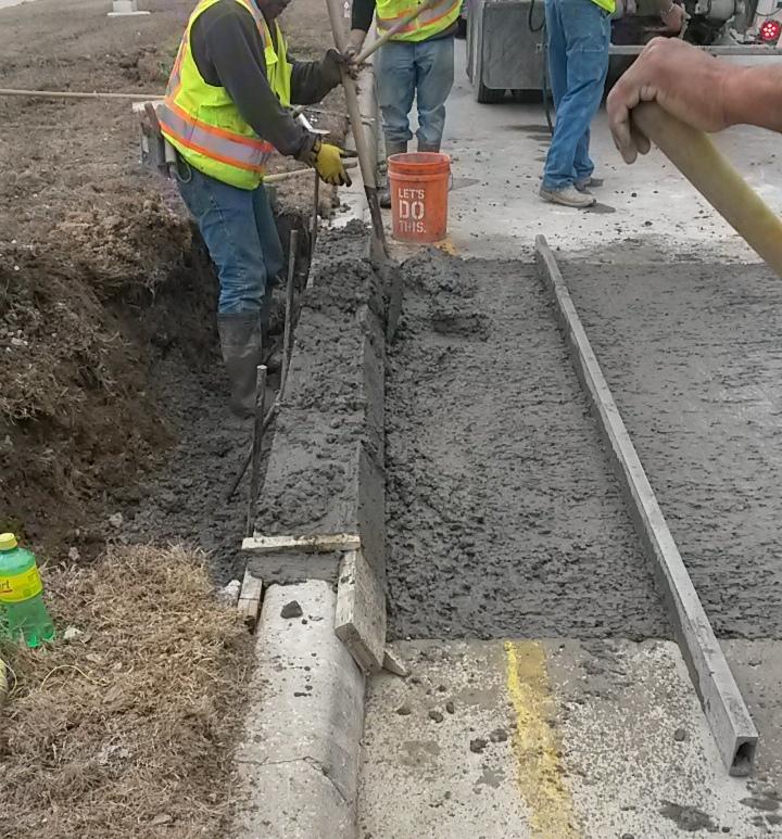 Curb and street repair