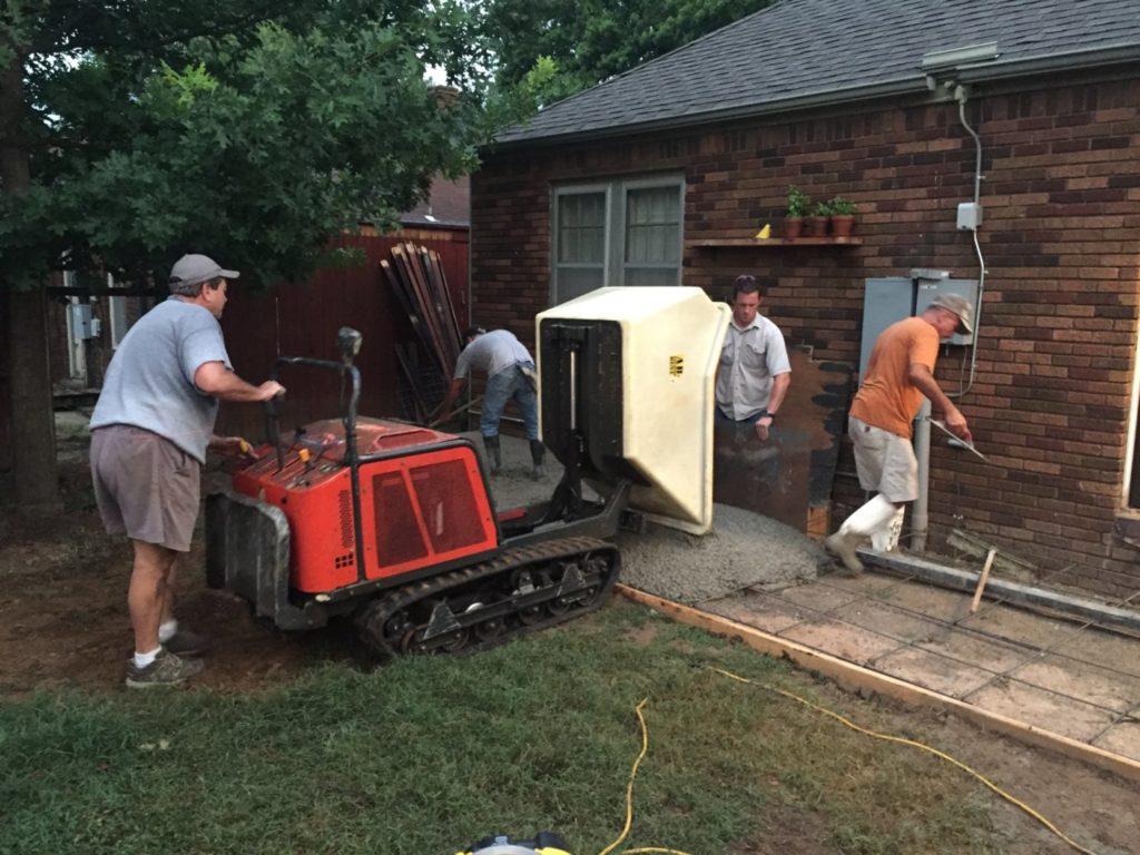 Placing concrete using a Georgia buggy